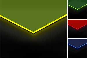 Farbig fluoreszierendes Acrylglas im Zuschnitt nach Maß