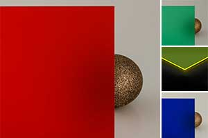 Farbiges Acrylglas im Zuschnitt nach Maß