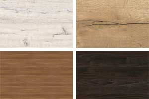 Spanplatten mit Holzdekoren