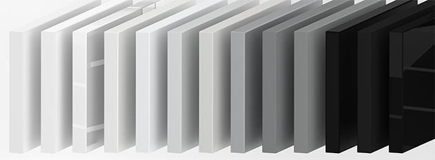 Schwarz Weiß Plattenzuschnitt