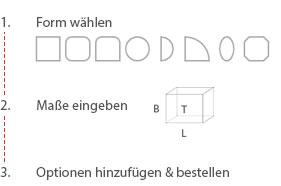 Duschglas konfigurieren