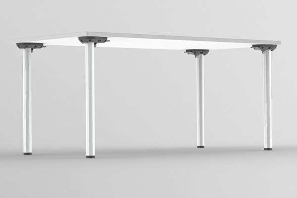 Tischbein rund Beine einzeln klappbar
