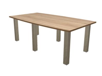 Tisch Fassform 200 X 100 Cm Eiche Dekor