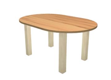 tisch nach ma in stadion form. Black Bedroom Furniture Sets. Home Design Ideas