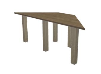 tisch nach ma in trapez form. Black Bedroom Furniture Sets. Home Design Ideas