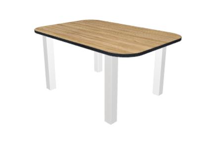 tisch gerundetes rechteck. Black Bedroom Furniture Sets. Home Design Ideas