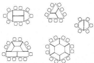 Ideen zur Anordnung von Tischen