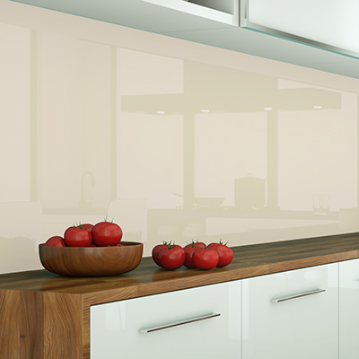 Küchenrückwand Glas lackiert
