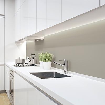 Farbige Küchenrückwand PLEXIGLAS® Hellgrau