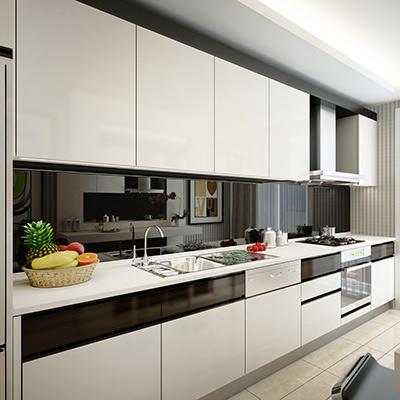 Küchenrückwand aus PLEXIGLAS® schwarz kratzfest
