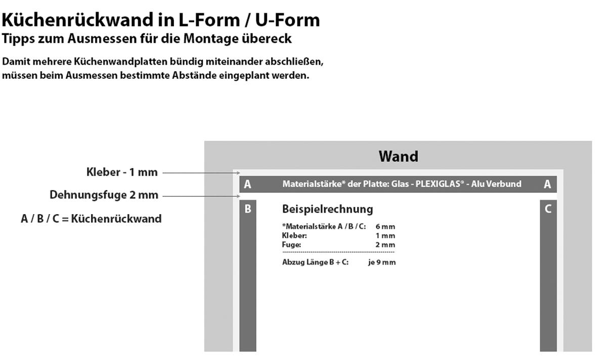 Tipps für Küchenrückwände in L-Form und U-Form
