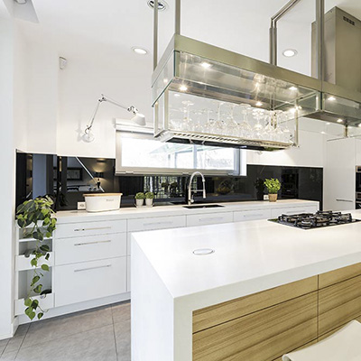 Küchenrückwand PLEXIGLAS® schwarz kratzfest