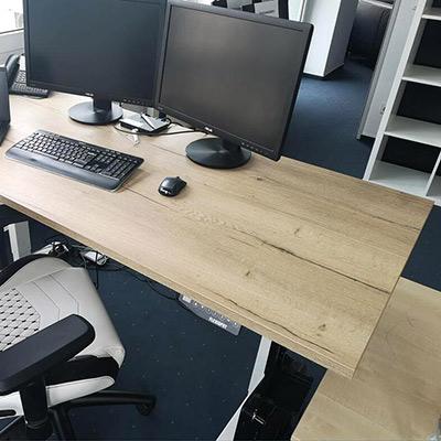 Schreibtischplatte nach Maß in Halifax Eiche