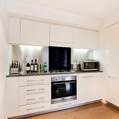 Spritzschutz Küche in Schwarz