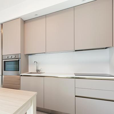 Küchenrückwand Alu DIBOND® weiß