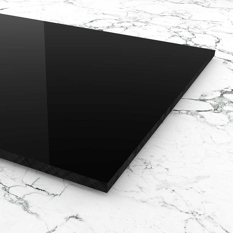 edle schwarze Optik f/ür K/üchenr/ückw/ände Treppengel/änder Trennew/ände; Ma/ße: 100 x 70 cm PLEXIGLAS/® kratzfest schwarz gedeckt 9N870 St/ärke 3 mm