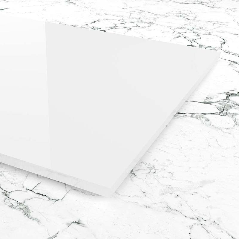 Plexiglas kratzfest wei zuschnitt for Kuechenrueckwand plexiglas